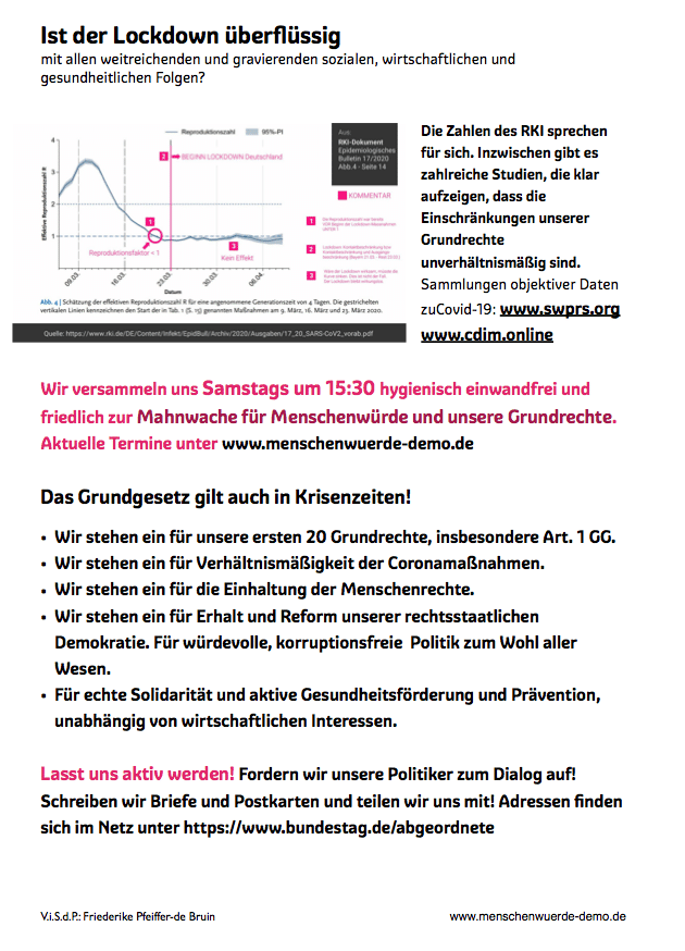 Menschenwürde Demo Oldenburg Flyer